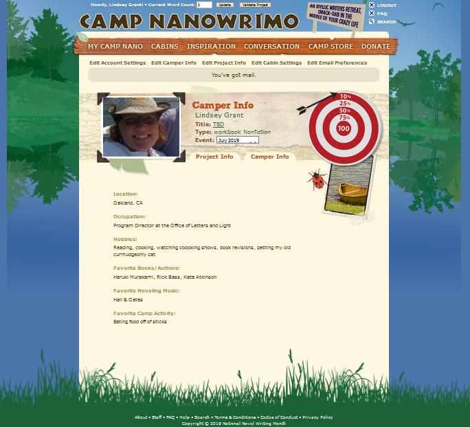 Camper info